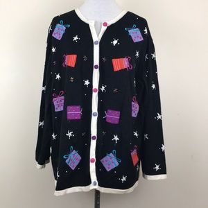 Vintage Christmas Gifts Sweater Cardigan